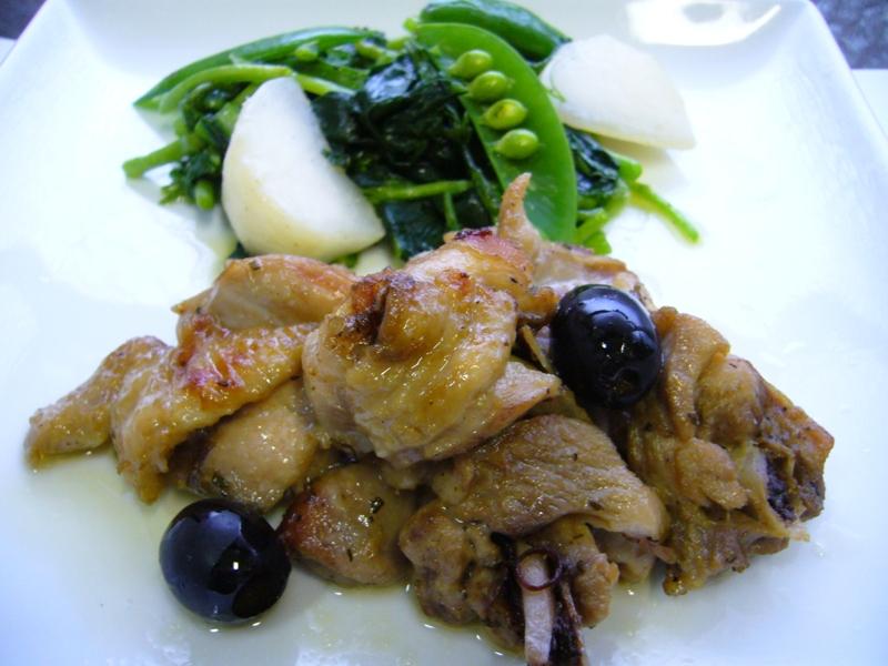 卒業作品展で作った鶏肉のオリーブ煮